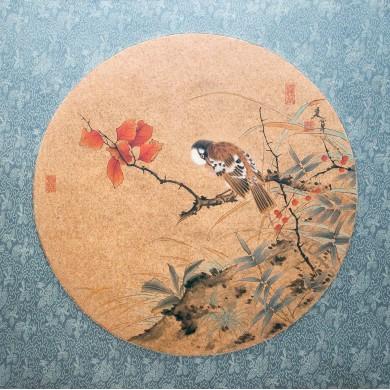 Pair of Chinese silk paintings of Zhang Jianj...