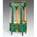Malachite Bronze Display Cabinet